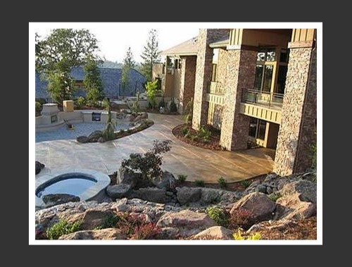 View more about Acid Stained Concrete Finishing - Outdoors