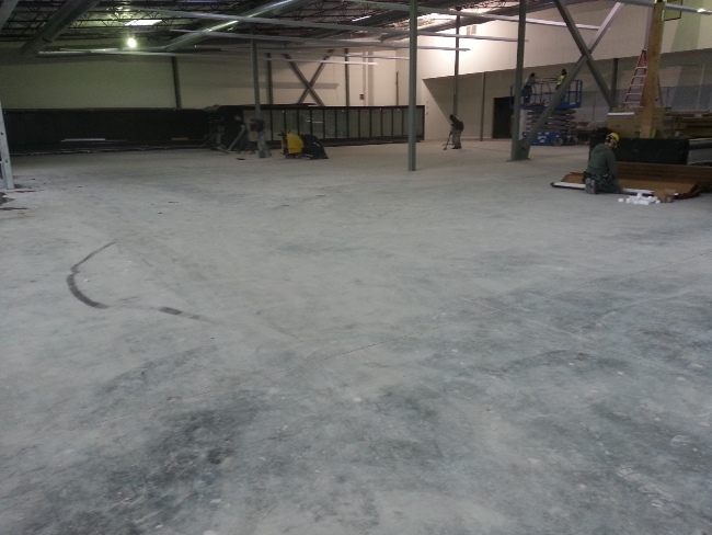 Concrete Surface Prep & Mastic Removal