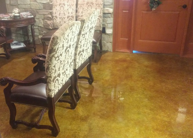 View more about Epoxy Coated Concrete Dentist Office Entryway Floor